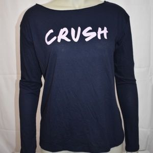 Victoria's Secret Navy CRUSH Long Sleeved T-Shirt